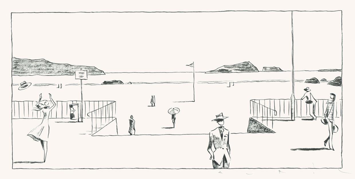 2017 Strand Comic Schwarz Weiß